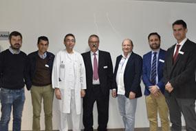 Especialistas en aparato digestivo que participaron en el curso con el doctor Hervás en el centro