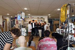 El hospital celebra una fiesta para iniciar el nuevo curso escolar