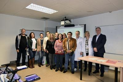 Profesionales y pacientes que han participado en el taller de EPOC