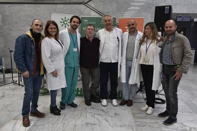 El programa 'Aquí estamos en Córdoba' de canal sur radio emite su programa desde el hospital por el Día de la Voz