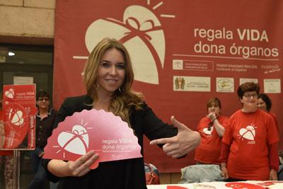 Rocío Márquez hace un llamamiento a la donación recordando el lema Regala Vida, dona órganos