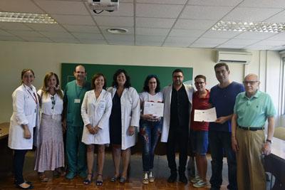 Responsables sanitarios y de los colectivos que se han beneficiado de la donación