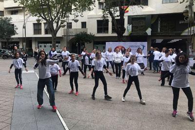 Un Flashmob en el centro de la ciudad inicia la programación