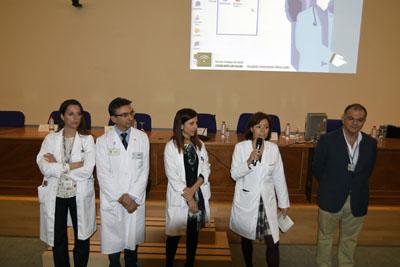 Valle Garcia y profesionales del hospital en la I jornada orientacion postresidencia