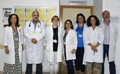 Profesionales del equipo de Cuidados Paliativos del Hospital Reina Sofía
