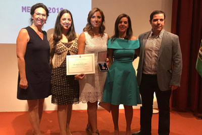 Carmen Prada, María José Barrios, Pilar Ventosa, Yolanda González, José Rumbao