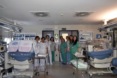 profesionales de Neonatologia del Hospital Reina Sofía
