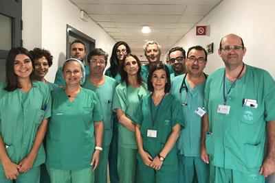 Algunos de los profesionales que han participado en los trasplantes