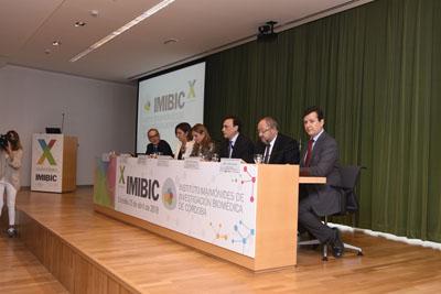 Mesa inaugural del acto conmemorativo del X aniversario del IMIBIC