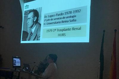 La doctora María José Requena explica los inicios del programa de trasplante