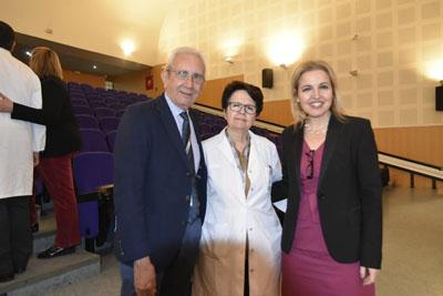 Pedro Aljama, María José Requena y Beatríz Domínguez