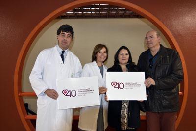 José María Dueñas, Valle García, Susana Sánchez y Miguel Clementson presentan el logo 40 aniversario
