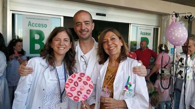 Elena García, Francisco Triviño y Josefina Vicente