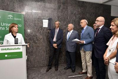 La directora gerente agradece el reconocimiento al Colegío Oficial de Arquitectos de Córdoba