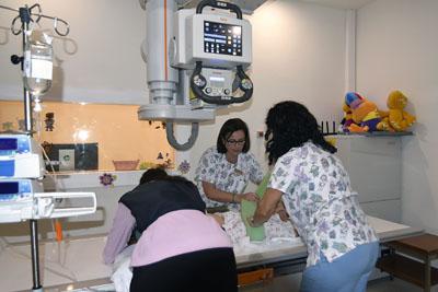 Nuevo equipo de radiología digital infantil