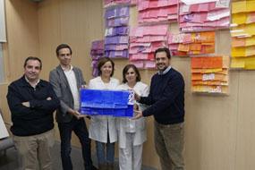Directivos de Lactalis Puleva, directora gerente y supervisora de Oncología Médica