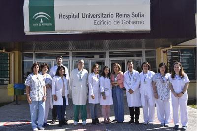 Profesionales del Hospital Reina Sofía y la Delegada de Salud y Familias presentan el programa Pinpo