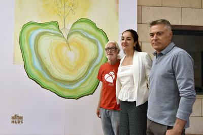 Pacientes trasplantado han participado en la creación del mural