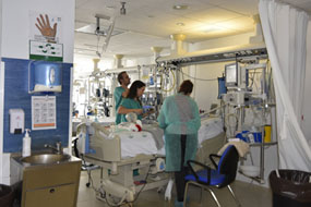 Profesioanles de la Unidad de Cuidados Intensivos Pediatricos