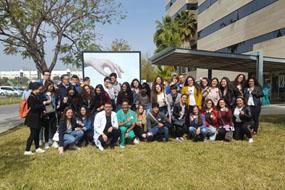 Foto de grupo de visitas escolares
