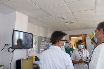 María Jesús Botella ha conocido esta semana el nuevo sistema de control de los pacientes