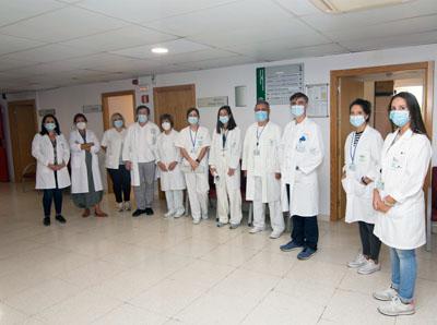 Parte del equipo de Reumatología
