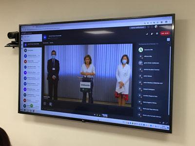 EL Hospital ofrece una rueda de prensa virtual para informar de la licitación de los aparcamientos frente a Consultas Externas, Edificio de Gobierno y Urgencias