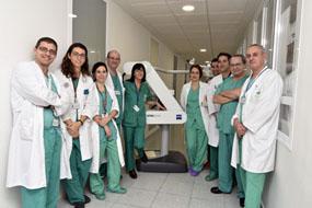 Profesionales del HURS aplican por primera vez en Andalucía la radioterapia intraoperatoria en tumores abdominales