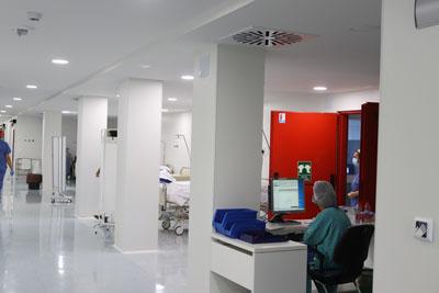 Zona de recepción de pacientes quirúrgicos