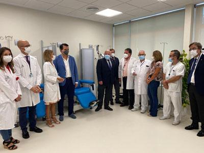 Visita al nuevo Hospital de Día de Infecciosos