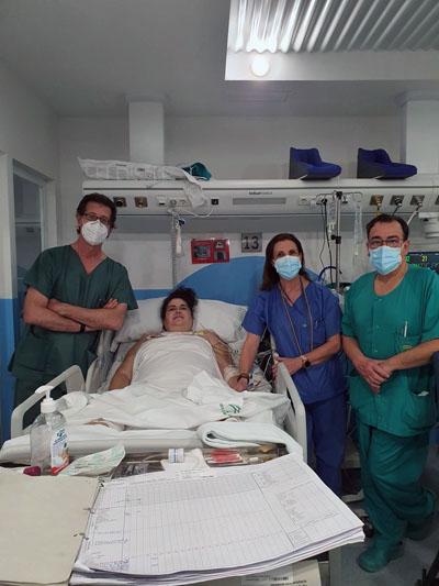 Paciente con Ecmo y Covid de Pozoblanco
