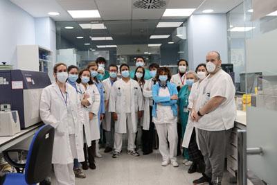 Equipo de profesionales del servicio de Inmunología