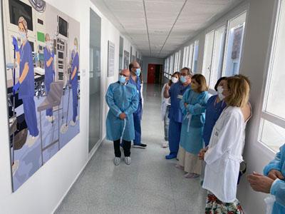 Las ilustraciones retratan la labor diaria de los profesionales que asisten y cuidan al paciente en el área quirúrgica