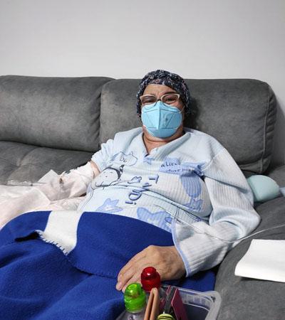 Mercedes fue la primera paciente del programa de Trasplante Autólogo Domiciliario