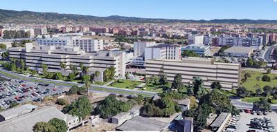 Vista del hospital