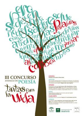 Cartel III Concurso Andaluz de Poesia 'Tintas para la Vida'