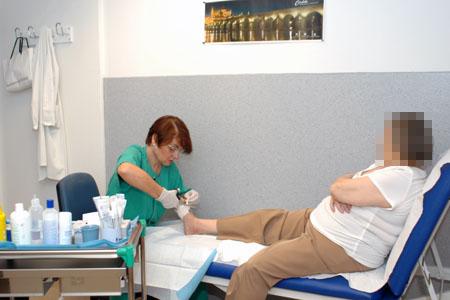 Consulta Pie dibético y úlceras vasculares