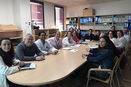 Sesión multidisciplinaria del Comité de Cáncer de Cabeza y Cuello