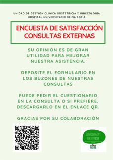 Cartel Encuesta de Satisfacción Consultas Externas