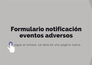 Formulario notificación eventos adversos