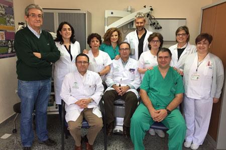 Compañeros de la UGC ORL intercentros del Hospital Infanta Margarita de Cabra