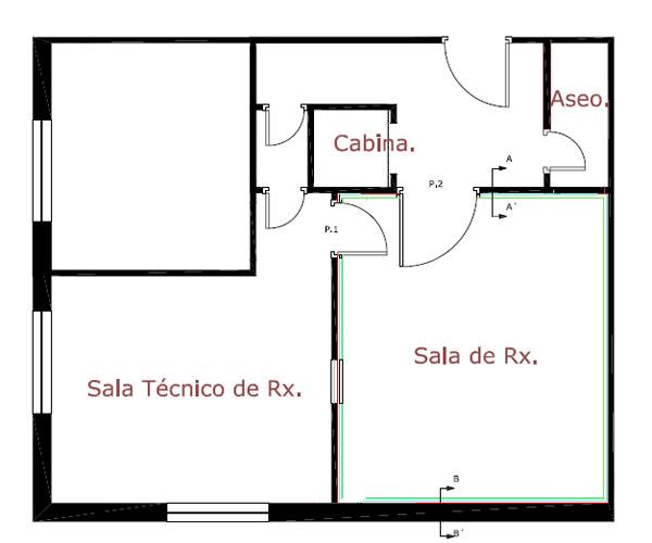 Plano de Radiodiagnóstico del C.S. de Peñarroya