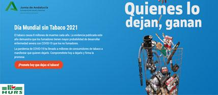 Tarjeta con el lema de la OMS para el 2021