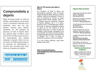 Tríptico Día Mundial Sin Tabaco - DMST