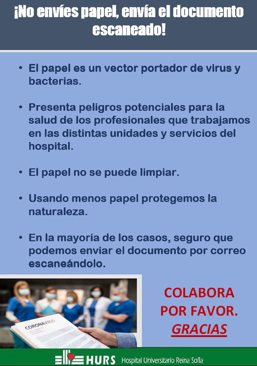 ¡No envies papel, envia el documento escaneado!