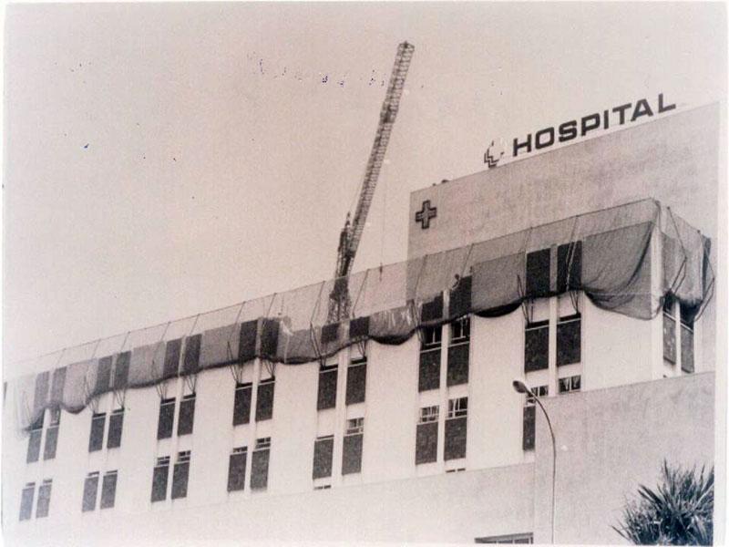 Ampliación de los módulos de la sexta planta de Hospital General . 1991