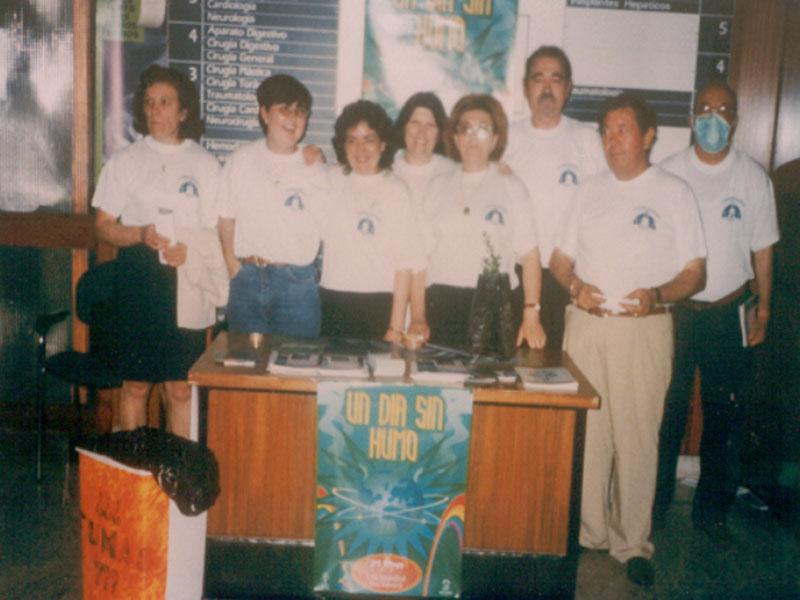 Celebración del Día Sin Humo en el hospital. 1995