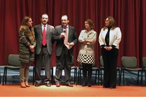 Marina Álvarez, Bibián Ortega, Juan Carlos Robles, Isabel Ambrosio y María Ángeles Luna