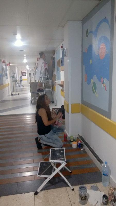 Voluntarias en la tercera planta