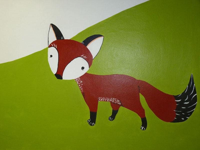 Uno de los animales del bosque del Hospital, un zorro